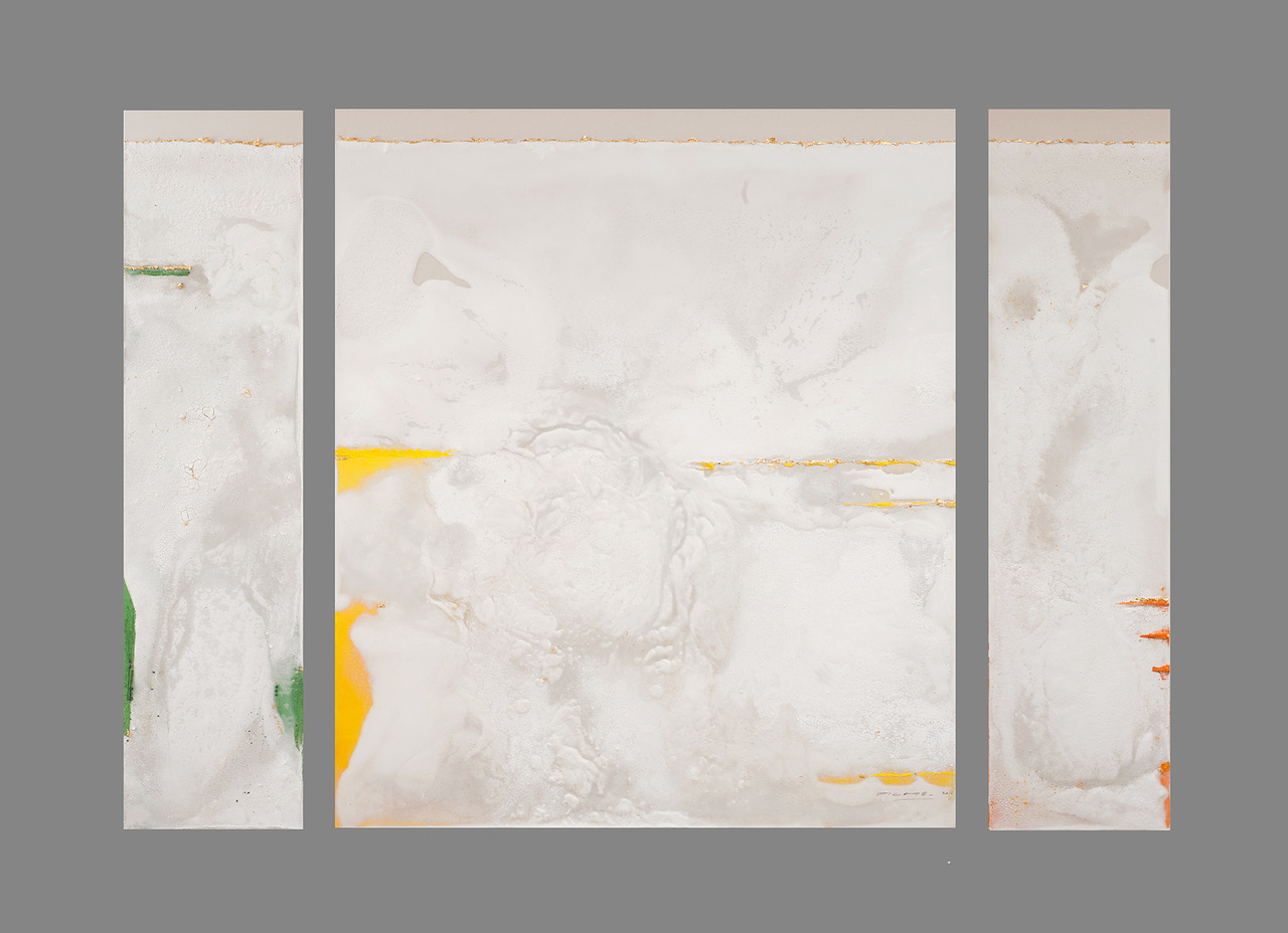 «Jade or, l'or ange en plein vol» - Triptyque 320 x 220 cm